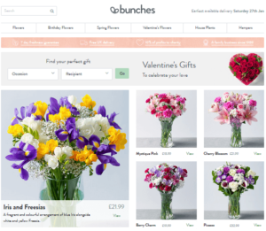 bunches flowers