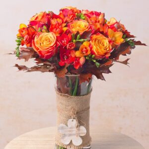 Autumn Freesias & Roses