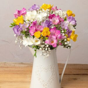 Fragrant Freesias with White Gypsophila